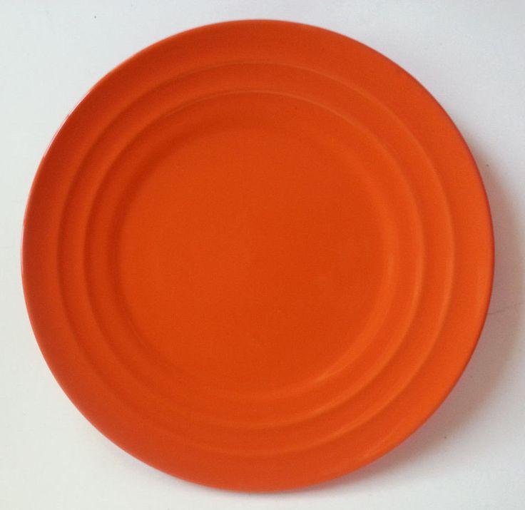 Rachel Ray Double Ridge Orange Dinnerware Salad Plates Fall Harvest Thanksgiving