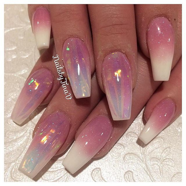 #Repost @nailsbytinav ・・・ Using •Opalescent lavender fading into •WW from @tammytaylornails with •glass strips from @oceannailsupply