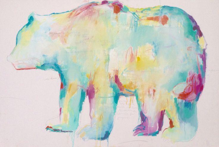 Bear Oil in canvas Monica Ogaz