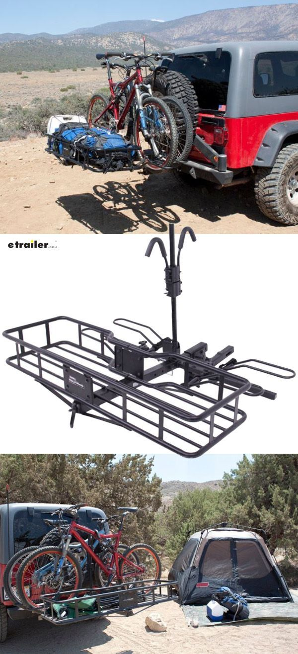 Get The Perfect Off Road Adventure Combo With This Hitch Mounted Cargo Carrier Plus Two Bike Carrier This Means No M Camping Gear Diy Cargo Carrier Bike Rack