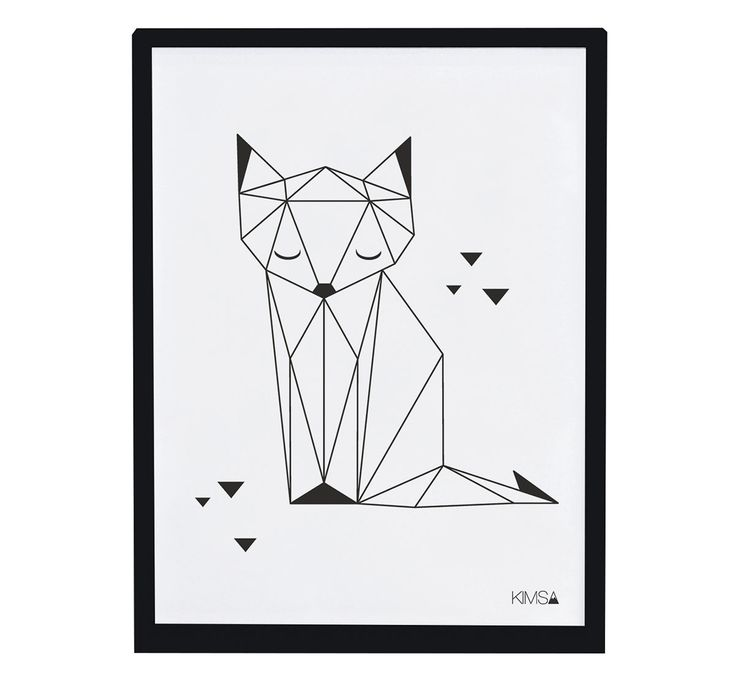 Affiche encadrée Origami Fox | Lilipinso #illustration