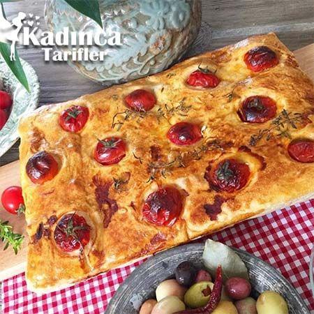 Domatesli Kekikli Kahvaltı Ekmeği Tarifi