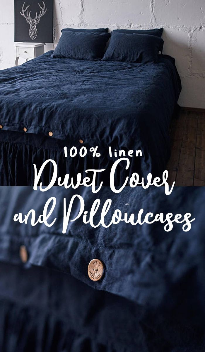 This Is Absolutely Pure 100 Linen Duvet Cover And Pillowcases