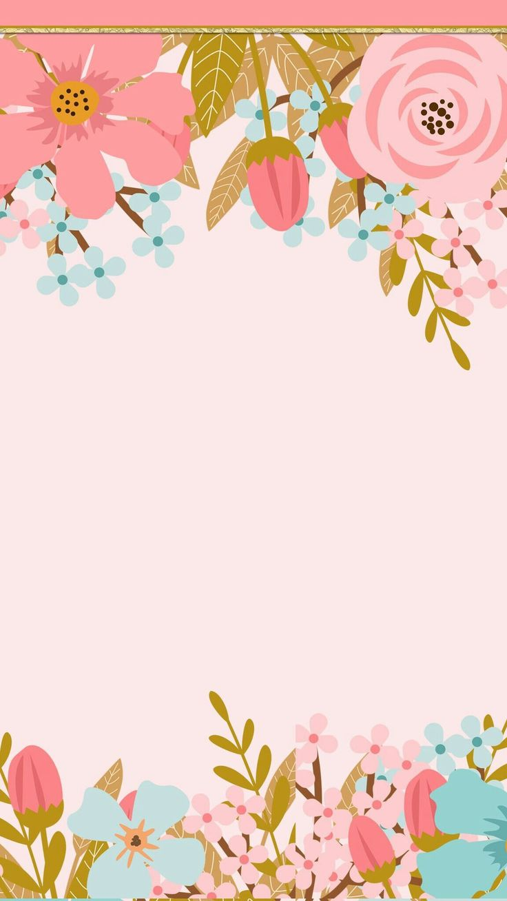 Pink flowers frame card