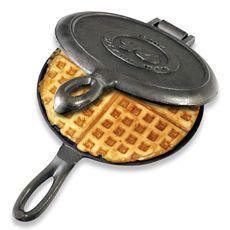 Cast Iron Waffle Iron... need one for camping stat!: Waffles Maker, Fashion Waffles, Fashion Cast, Outdoor Cooking, Castiron, Waffles Iron, Camping Gears, Iron Waffles, Cast Iron