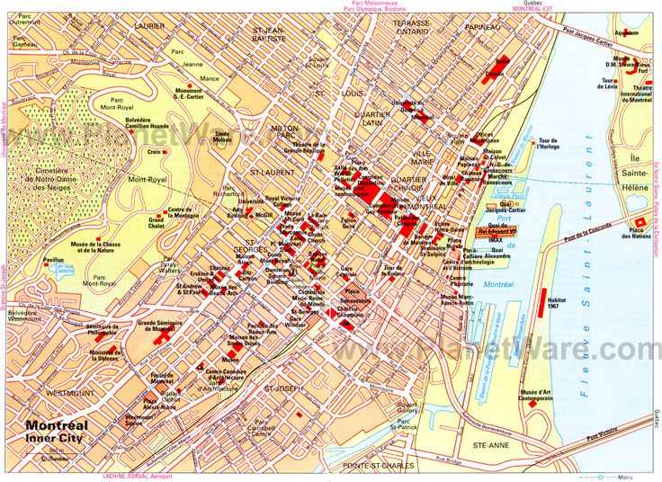 Map of Montreal Attractions | PlanetWare