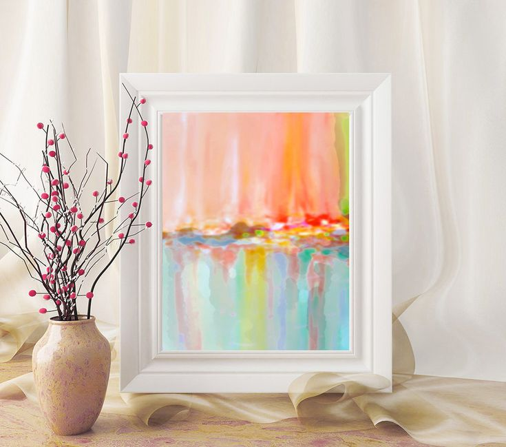 #Abstract #Rainbow #Pastel #AbstractArt #PrintableWallArt #INSTANTDOWNLOAD #Printable #Watercolor #AbstractPainting #Nursery #Decor #A4 #Print