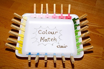 Colour matching - develops colour & shade recognition, fine motor skills, sharing- Re-pinned by @PediaStaff – Please Visit http://ht.ly/63sNt for all our pediatric therapy pins