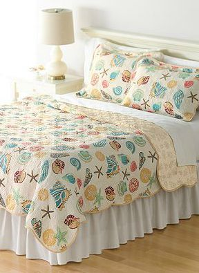 Coastal Ocean Sea Life Bed Quilt from Kohl's: http://www.completely-coastal.com/2010/07/coastal-and-nautical-bedding.html