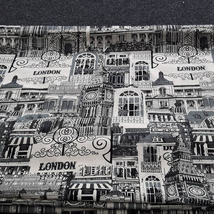 """Loved this #London fabric"""