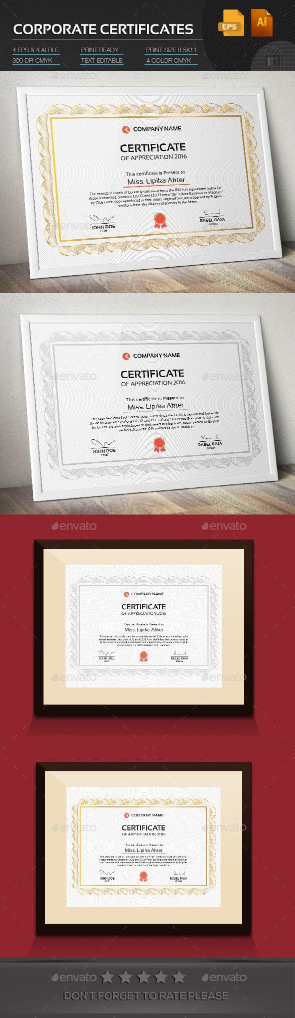 Corporate Certificate Template Vector EPS, AI #design Download: http://graphicriver.net/item/corporate-certificate/14484839?ref=ksioks