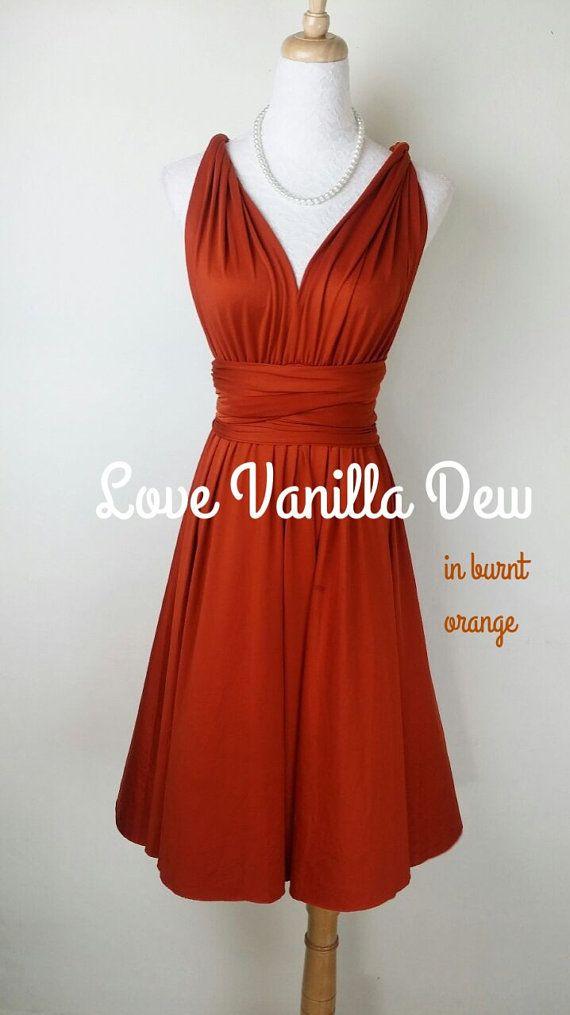 Bridesmaid Dress Infinity Dress Straight Hem by LoveVanillaDew