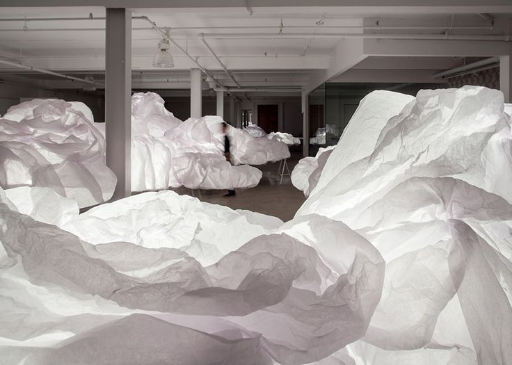 Cloud installation by Mason Studio, Toronto exhibit design