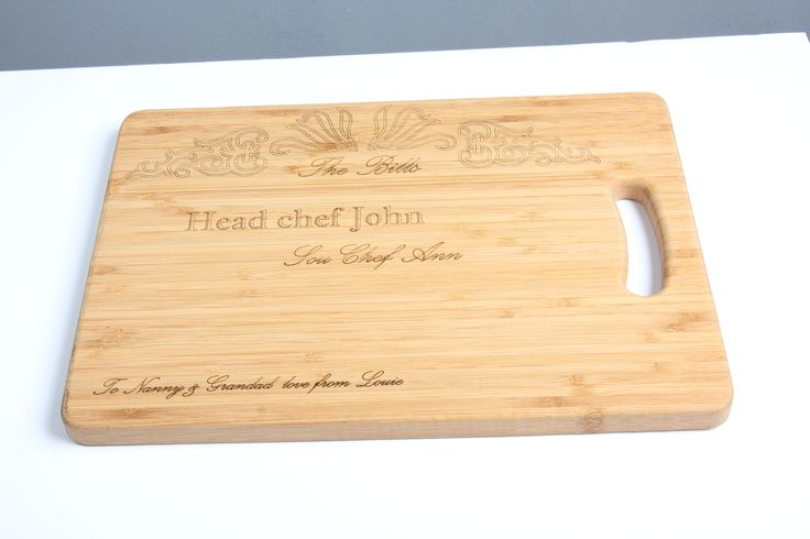 Laser engraved chopping board. Made for my grandparents Christmas present