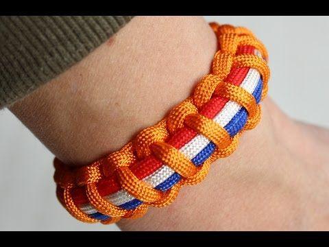 paracord vlag armband maken - YouTube