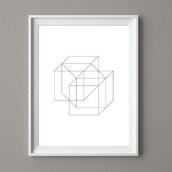 Geometric Shapes - Printable Art for Download  #art  #geometric #decor  #hdmeco #printables  #wallart #prints #