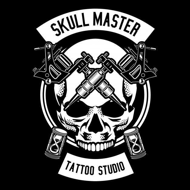 Skull Tattoo Desain Logo Tato Wallpaper Ponsel