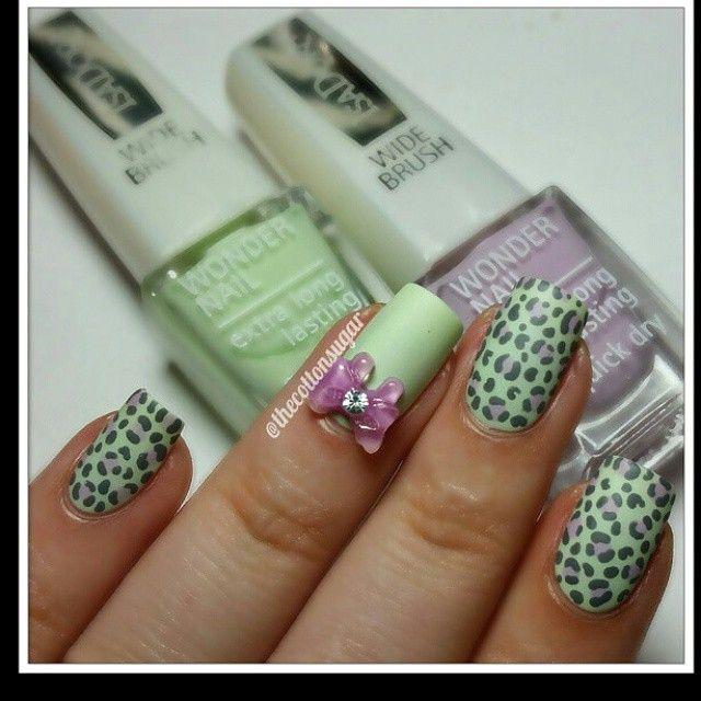 Mejores 68 imágenes de Nail Art: Leopard Nails en Pinterest | Uñas ...