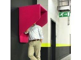 BuzziHood akoestisch 'telefooncel' van ecovilt -  zonder schrijfplank