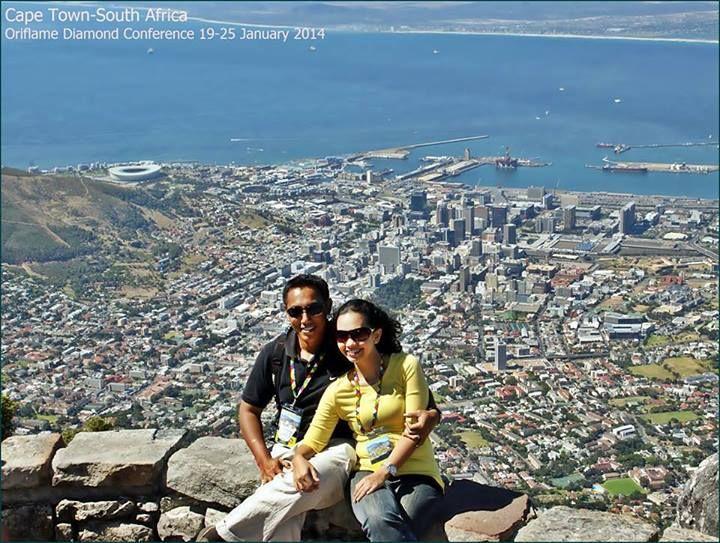 jalan-jalan gratis dari Oriflame bersama suami @Matty Chuah TOP of Table Mountain CapeTown