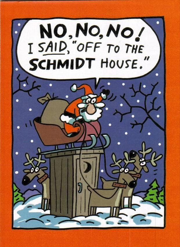 Exceptional Christmas Joke: The Schmidt House