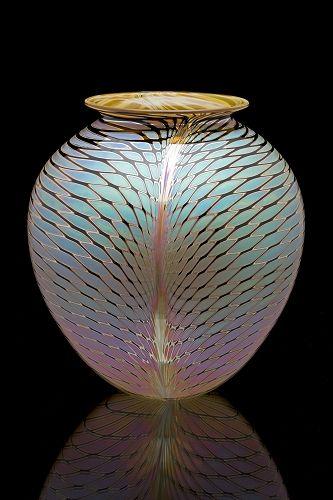 Quelita BourgeoisviaCindy Lysonski  Repinned 8 weeks ago  From zweifelartglass.com Repin Like    Zweifel round vase