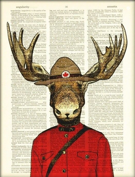 Royal Canadian Mounted Moose Mountie Police Moose by collageOrama