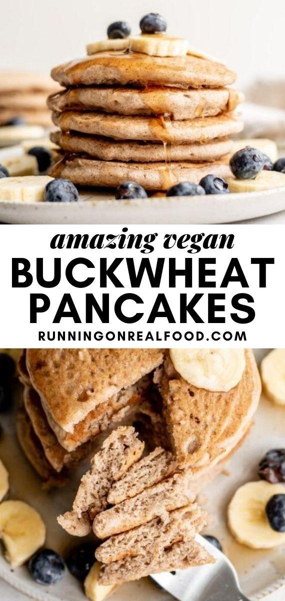 Vegan Buckwheat Pancakes Recipe In 2020 Recipes Vegan Breakfast Easy Vegan Breakfast Recipes