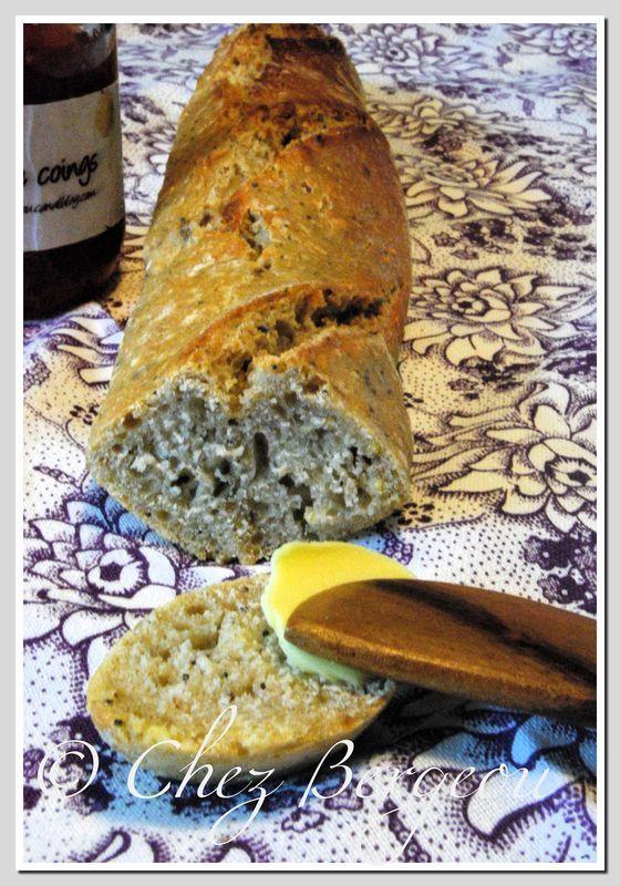 Baguettes au levain à la farine d'épeautre et petites graines pour le World Bread Day 2010