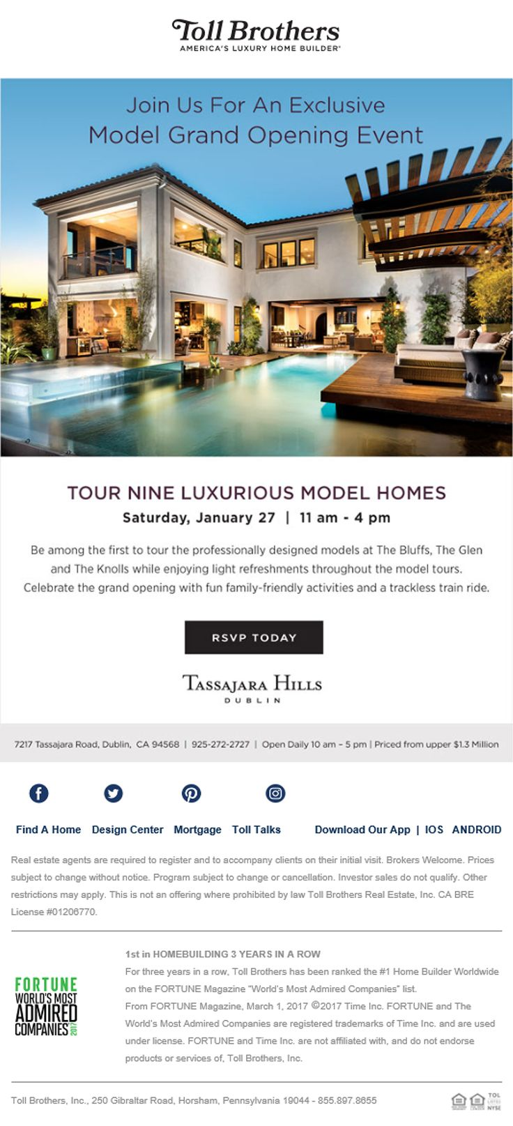 New Homes For In Dublin California Brokers Join Us Our Model Grand Opening 1 27 11am 4pm Tour Beautiful Models Enjoy Refreshments