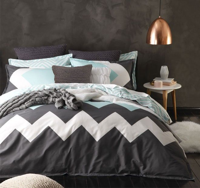 Marley Quilt Cover Set Range Mint | Manchester Warehouse