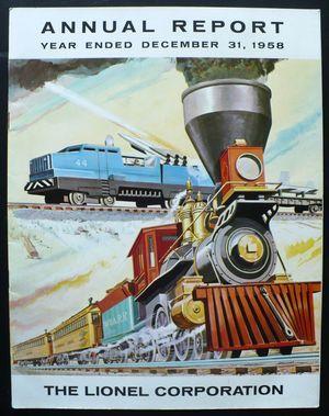 Lionel Model Trains  http://ephemera.typepad.com/ephemera/2012/03/lionel-model-trains-annual-report-original-1958.html#