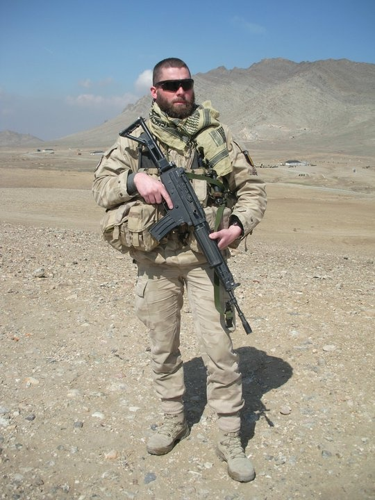 Christophe M., serving the Belgian forces in Afghanistan, 2010.
