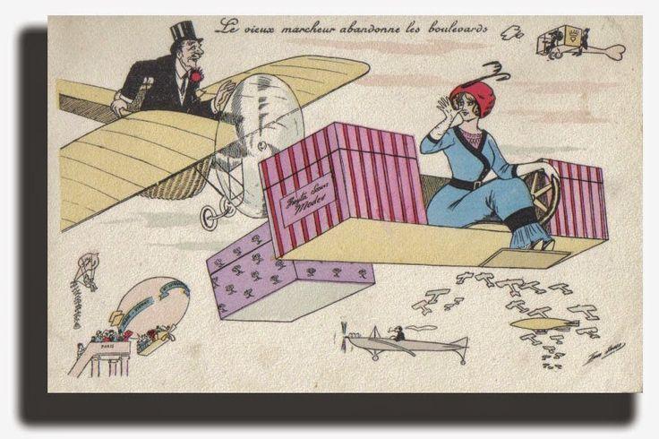 1905 ART NOUVEAUX POSTCARD XAVIER SAGER
