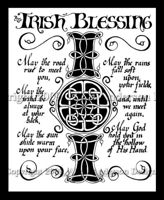 Irish Blessing Celtic style