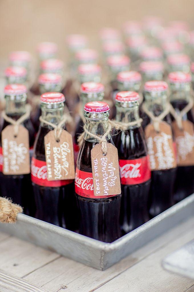 coke bottle escort cards | Figlewicz Photography | Glamour & Grace