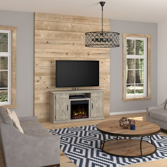 Lorraine Tv Stand For Tvs Up To 55 With Electric Fireplace Included Diy Fireplace Makeover Farmhouse Living Room Furniture Livingroom Layout