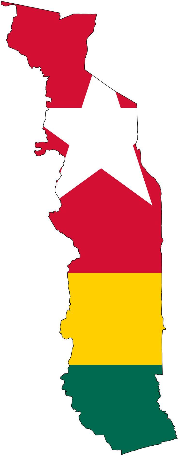 Togo Flag Map - Mapsof.net