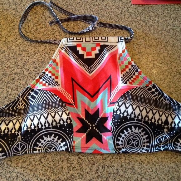 Tribal Halter Bikini Set This is a size large. In perfect shape. Reposh because it didn't fit me. Swim Bikinis