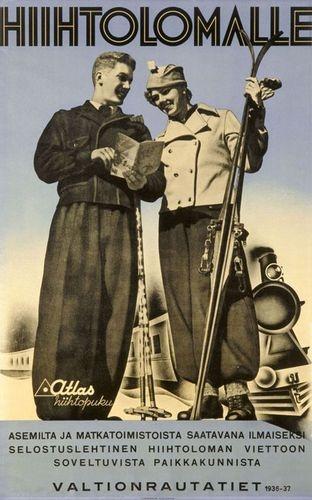VR:n mainosgalleria - Markkinointi: Vintage Retro Ski, Posters Alpine Travel, Ski Posters Alpine, Finnish Vintage, Travel Posters Luggage, Vintage Travel, Vintage Ads, Vintage Cards, Posters Luggage Labels
