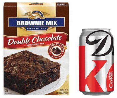 Skinny Diet Coke Brownies fat substitutes