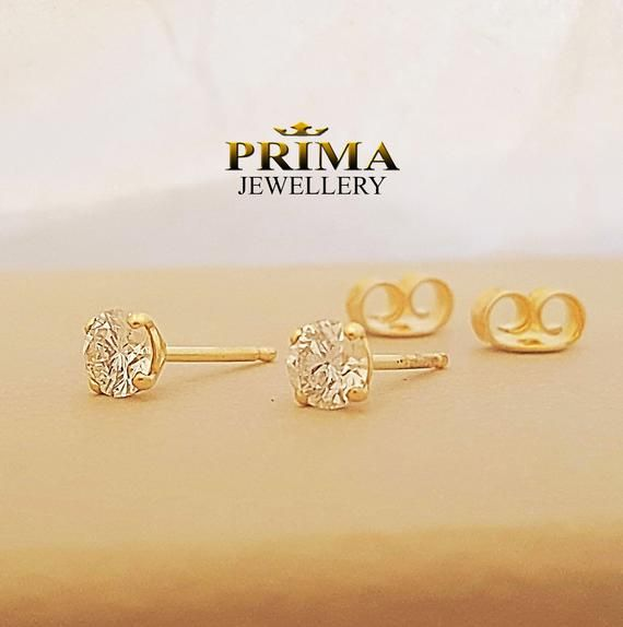 1 4 Carat Diamond Stud Earrings Four Prong Stud Earring Yellow Gold Diamond Earrings 14k Gold Stud Earrings Classic Stud Earrings Diamond Studs Stud Earrings Gold Diamond Earrings