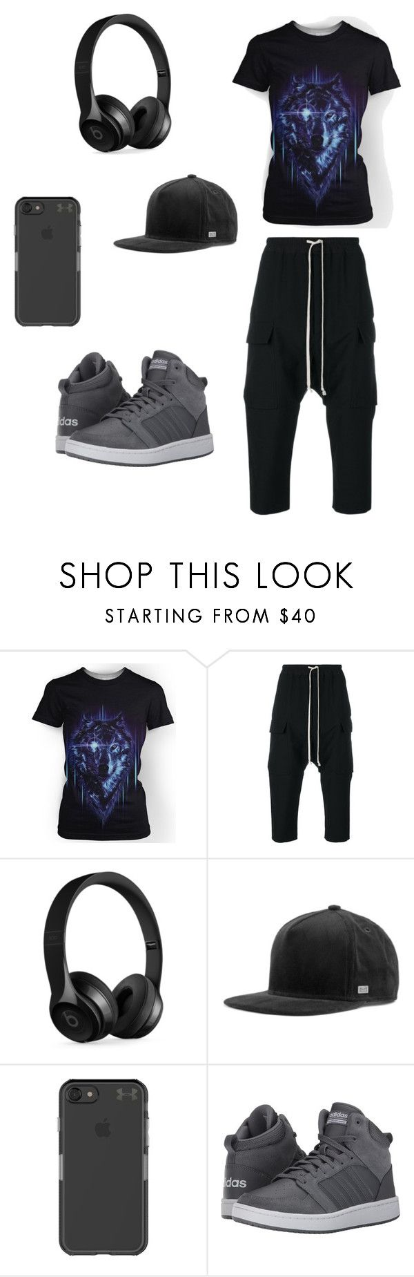 """Comfy"" by tomboy92 ❤ liked on Polyvore featuring Rick Owens, Beats by Dr. Dre, MELIN, Under Armour and adidas"
