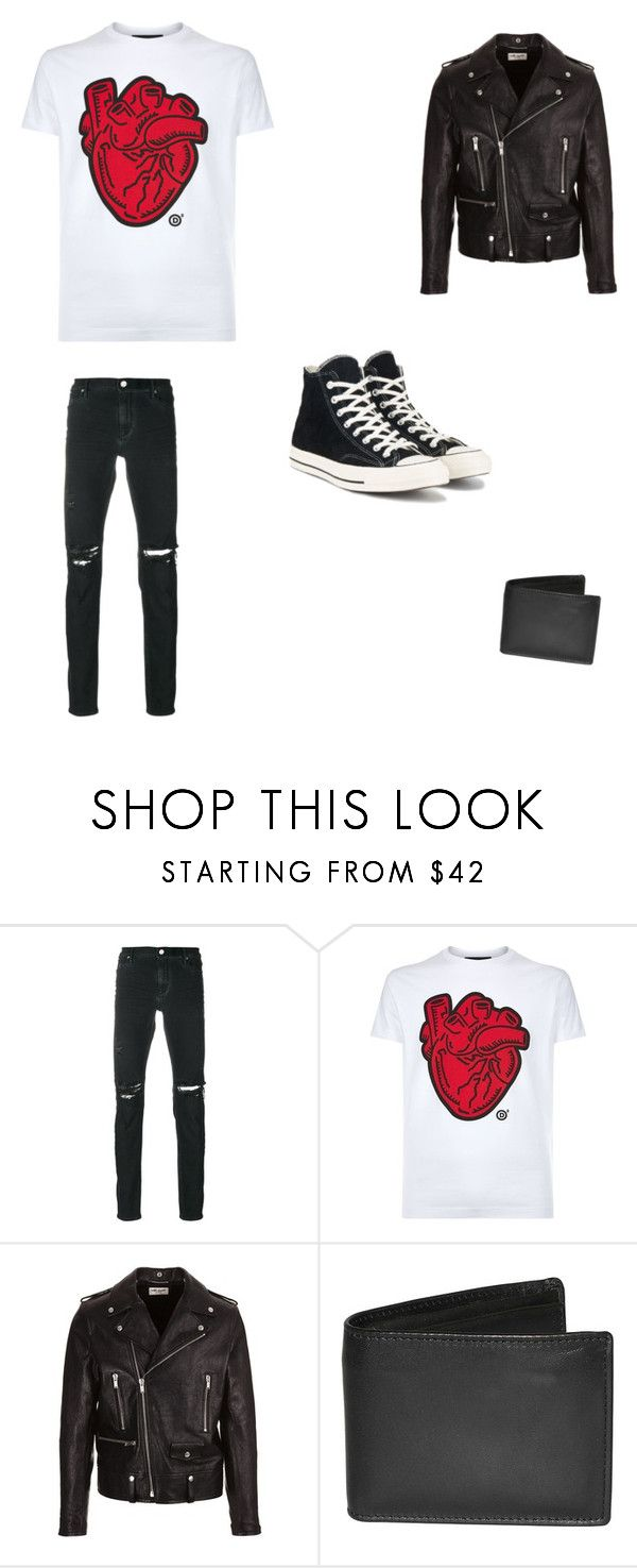 """Leather Hearts"" by tyler-c-l ❤ liked on Polyvore featuring RtA, Dsquared2, Yves Saint Laurent, Dopp, Converse, men's fashion and menswear"