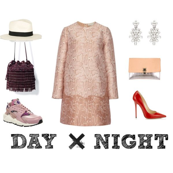 DAY AND NIGHT by renatabarroso on Polyvore featuring STELLA McCARTNEY, NIKE, Jimmy Choo, Zara, Proenza Schouler, Oscar de la Renta and rag & bone