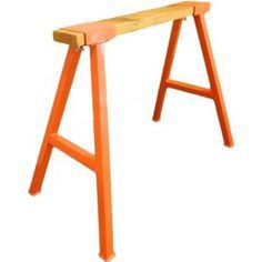 orange sawhorse legs... these would be hot for the individual tables.