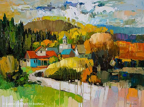 Iosif Derecichei, 'Take me Home, Old Country Road', 36'' x 48'' | Galerie d'art - Au P'tit Bonheur - Art Gallery