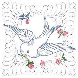 FAIRWAY-Stamped Embroidery: Quilt Blocks. This package contains six 18x18in poly/cotton broadcloth pre-stamped in wash-away ink quilting blocks. Additional marks for decorative quilting is also pre-st