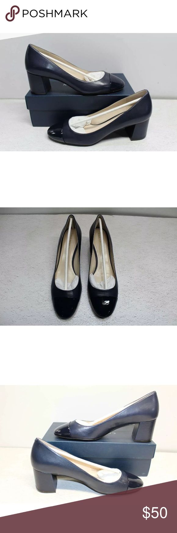 Cole Haan pumps shoes 9.5 blue Dawna Grand Pump 5mm. Block chunky heel. New with box. Bought for myself; but I need larger size. Cole Haan Shoes Heels
