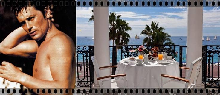 Alain Delon at Hotelul Negresco, Nice, France